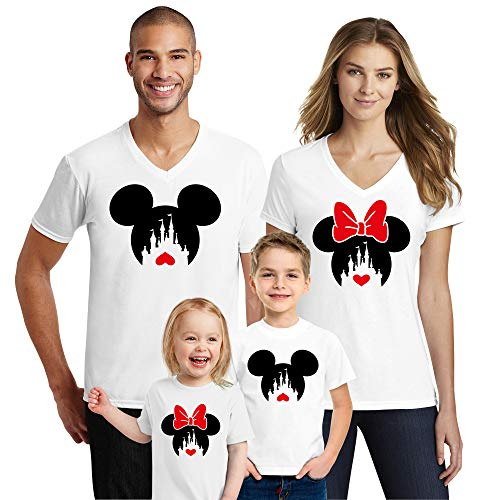 Natural Underwear Family Trip #2 Heart Love 2019 Couple T-Shirts Trip Mouse V Neck T Shirts White Kids-Girls 4T