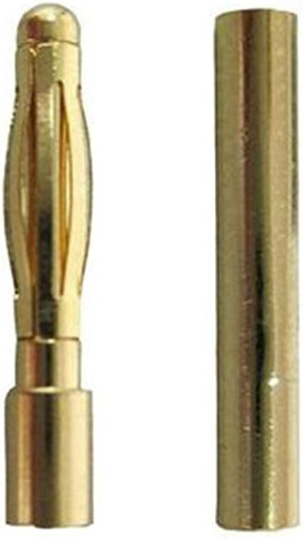 20//40//50 x RC 2mm Pairs Gold Bullet Connector+Heat Shrink Lipo Battery ESC AQJ