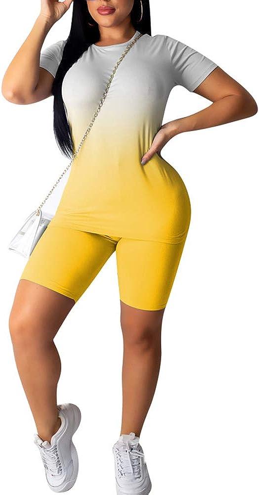 Sujetador Pantalones para Fitness Gimnasio Juego de 5 Piezas de Ropa Deportiva para Mujer de Secado r/ápido Pantalones Cortos M Camiseta Ropa Deportiva para Exteriores Juego de 6 Piezas