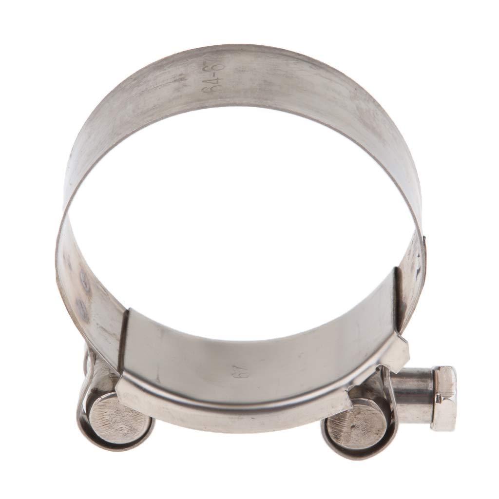 in acciaio inox Fascetta di scarico per moto resistente 1 pezzo 1 56-59mm