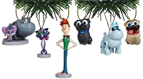 Disney Junior's Puppy Dog Pals Holiday Ornament Set of 6 (Christmas Dog Puppy Ornament)