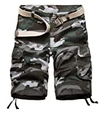 Unisex Teen Boys Hip-hop Stylish Spring Summer Beach Jogger Trouser Casual Camouflage Shorts Military Wild Cargo Pants Bib Overall