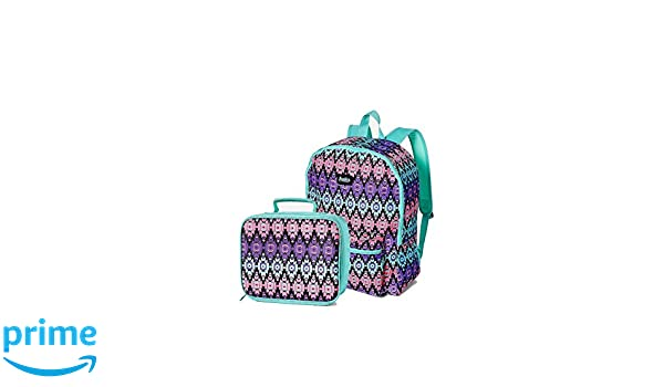 Amazon com | Justice Set of 2 School Backpack and Lunch Box