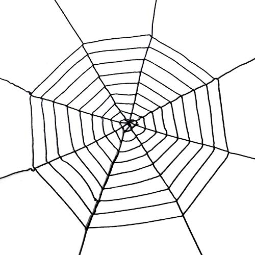 Giant Spider Web- Halloween Decor Decorations Outdoor Yard- Black-11.5 Feet ...]()