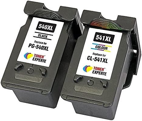 PG540 PG-540XL CL541 CL-541XL TONER EXPERTE® 2 XL Cartuchos de Tinta compatibles para Canon PIXMA MG4250 MG4150 MG3650 MG3550 MG3250 MG3150 MG2250 ...