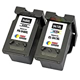PG540 PG-540XL CL541 CL-541XL TONER EXPERTE Set of 2 XL Compatible Ink Cartridges for Canon Pixma MG4250 MG4150 MG3650 MG3550 MG3250 MG3150 MG2250 MG2150 MX455 MX475 MX515 MX525 MX375 MX395 MX435