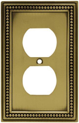 Brainerd 64400 Beaded Single Duplex Outlet Wall Plate / Switch Plate / (Brainerd Beaded Single)