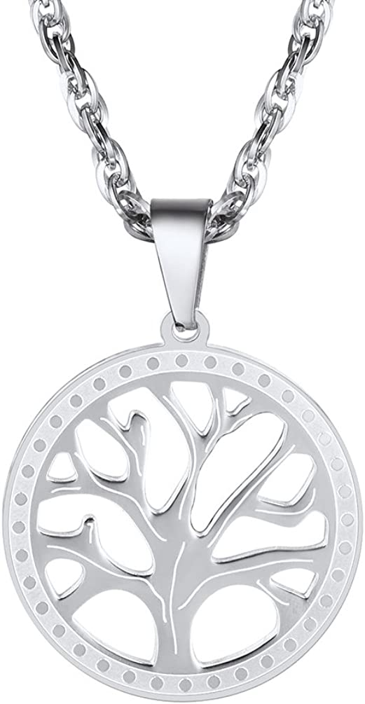 PROSTEEL Tree of Life Necklace,Nature Spiritual Necklace,Family Tree Necklace,Mens Womens Jewelry, Come Gift Box
