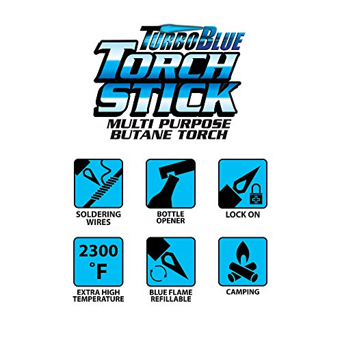 3 Pack Turbo Blue Torch Stick Multi Purpose Refillable Butane Lighter by Turbo Blue (Image #6)