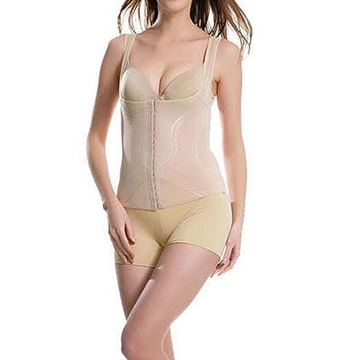 9541dc2b568 Muka Shapewear Wear Your Own Bra Zip Front Corset Torsette Waist Cincher   Amazon.co.uk  Clothing