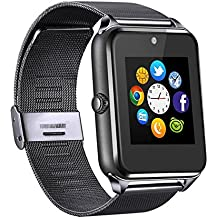 MSRM Replaceable Band Bluetooth Smart Watch Call Sync and Handfree Support Android 4.2 or Above and Iphone5s/6/6s/7/7s (Partial Functions for iPhone) (SL)