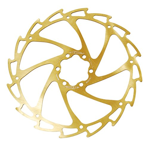 Alligator Light Weight Wind-Cutter Disc Brake Rotor, Titanium Coated, 180mm Alligator Disc
