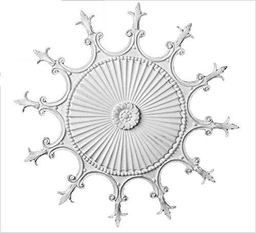 Hickory Manor House Scalloped Ceiling Medallion/Any Finish