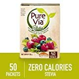 Pure Via Stevia 50 Packet, 50 Grams
