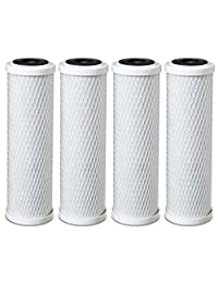 4 x Universal 10 inch Block cartucho de filtro para toda la casa filtro de carbono - 1 Micron - Reemplaza Dupont wfpfc8002, vatios hw-ld, GE fxwtc. sedimentos Filtro.