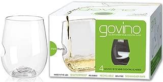 product image for Govino Go Anywhere Flexible Shatterproof Wine Glasses, 12-ounce (Set of 4)
