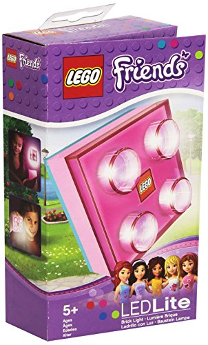 LEGO Transparent Brick Light (Colors vary - red, green, yellow, blue, pink)