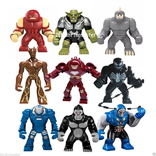 9pcs-lot-big-minifigures-iron-man-rhino-groot-venom-hulk-buster-build-toys
