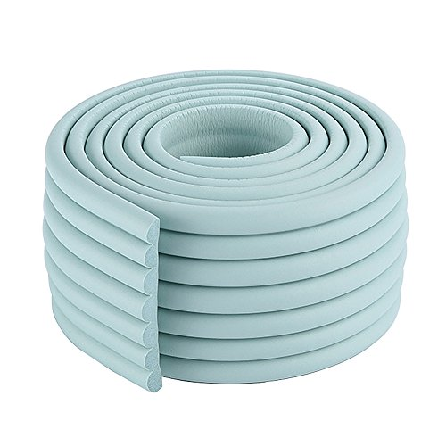 2x2m/13ft Flexible Toddler Edge Bumper NBR Door Trim Protector in Light Blue for Wash Sink Countertop by AUTULET