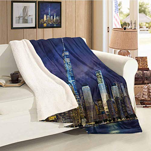 Buck Haggai Landscape Weighted Blanket Child New York USA Manhattan for Sofa Couch and Bed 59