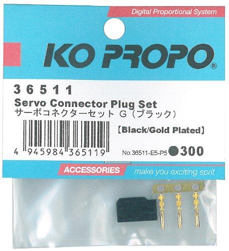 KO Propo Servo Connector Plug Set w/3 Gold Pins