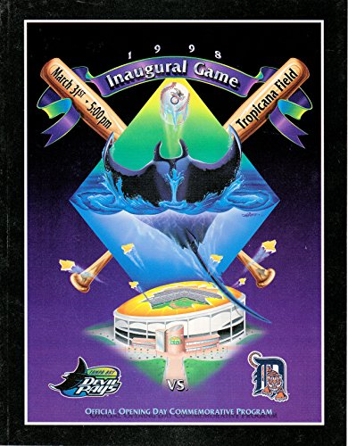 Tampa Bay Devil Rays Book - Tampa Bay Devil Rays 1998 Inaugural Game Official Opening Day Commemorative Program