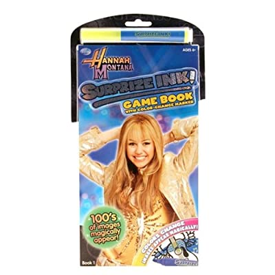 Hannah Montana Surprize Ink Game Book with Marker: Toys & Games