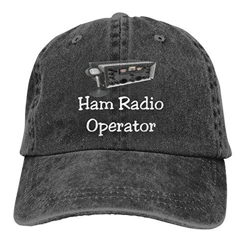 Ham Radio Operator Unisex Baseball Cap Cotton Denim Adjustable Outdoor Sports Cap for Men Or Women Black