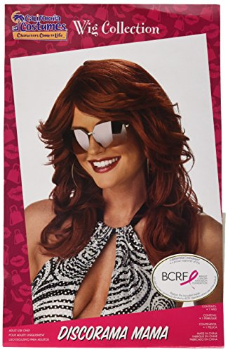 Group Halloween Costume Ideas 2016 For Adults (California Costumes Women's Discorama Mama Auburn Wig, Auburn, One Size)