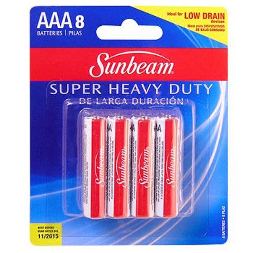 1 Pack Total of 8 Batteries Sunbeam AAA Batteries