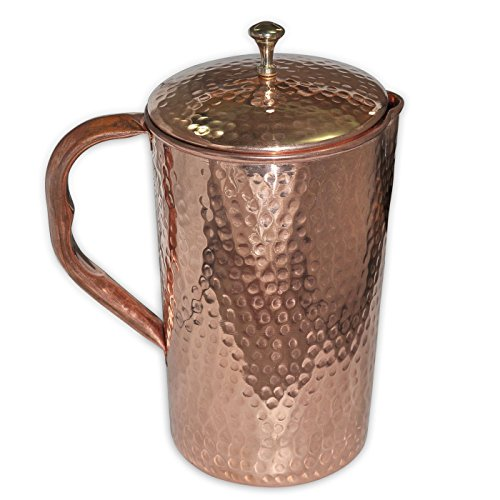 QUBIC INC HANDMADE COPPER JUG HAMMERED 51OZ - Martini Jug