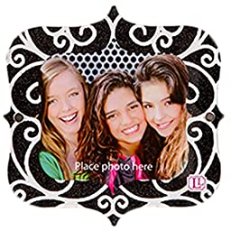 LockerLookz Locker Frame - Black and White Scroll - 1 piece
