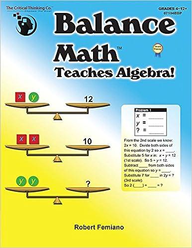 Balance Math Teaches Algebra! Book Pdf