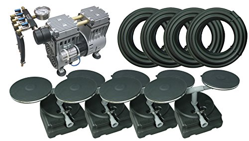 Complete Pond Aeration Kit with Rocking Piston Aerator Weighted Tubing & Diffuser (3/4 Hp, No Cabinet)