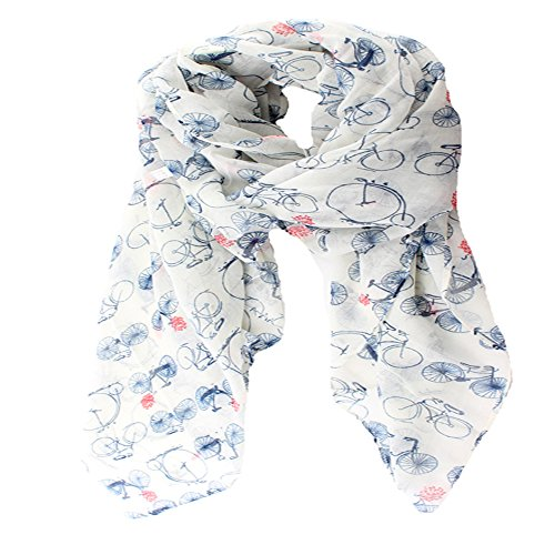 (ctshow bicycle Print Voile Print Scarf Fashionable Women Scarves shawl)