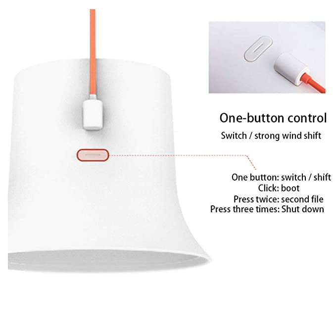 QUANOVO Small USB Fan Table Desk Fan Portable Mini with Twin Turbo Blades Quiet One-Button Manipulation Multiple Power Supply Methods Air Circulating Technology for Home Office Outdoor Travel,White