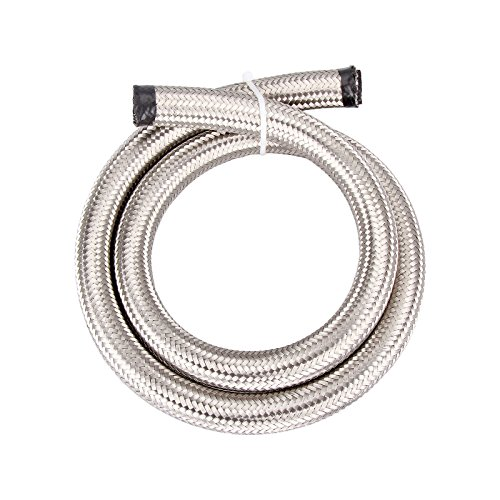 - Madlife Garage Universal AN-10 AN10 #308 Stainless Steel Braided Fuel Line Oil Gas Hose each 1 Meter/3.3 Ft Long