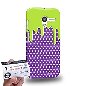 Case88 [Motorola Moto X (1st Gen)] 3D impresa Carcasa/Funda dura para & Tarjeta de garantía - Art Fashion Melting Dotted Pattern