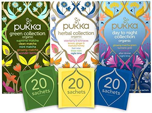Pukka Thee Collections Bundel – 60 zakjes – 3 smaken x 20 zakjes