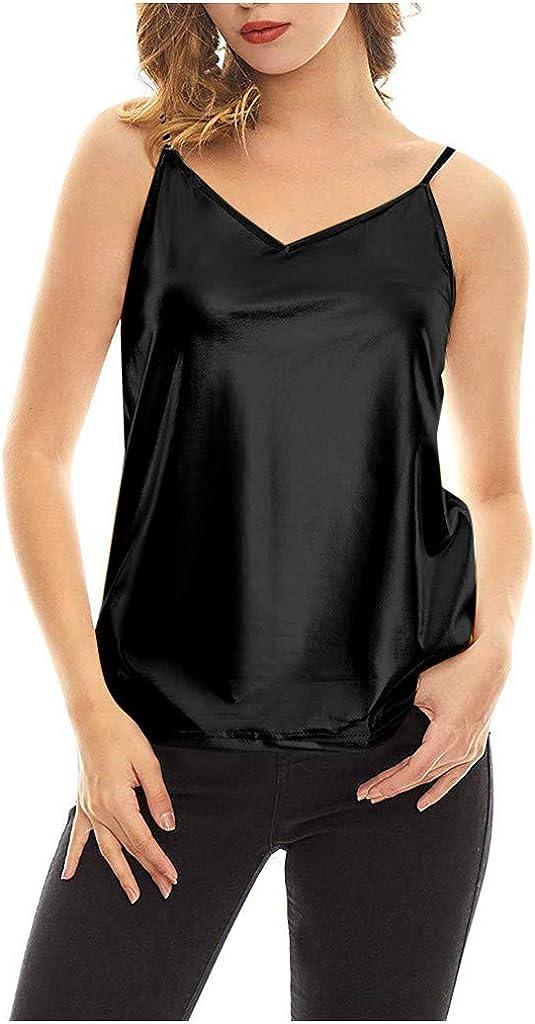 Ros1ock Womens Shimmer Sequin Embellished Sparkle Tank Top Vest Tops