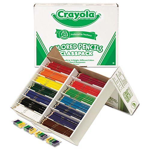 Colored Woodcase Pencil Classpack, 3.3 Mm, 14 Assorted Color Sets/box by Crayola