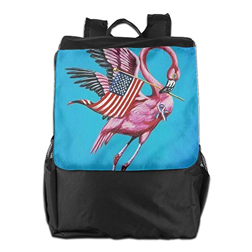 Flag Travel Outdoors Shoulder For Men HSVCUY America Camping Dayback Adjustable Backpack With Personalized Storage Strap Flamingo Women Pink And School RqRw1v