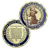St Christopher Challenge Coin Travelers Prayer Commemorative Coin