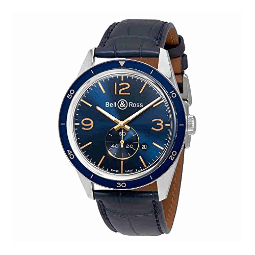 Bell and Ross Vintage Blue Dial Automatic Mens Watch BRV123-BLU-ST-SCR