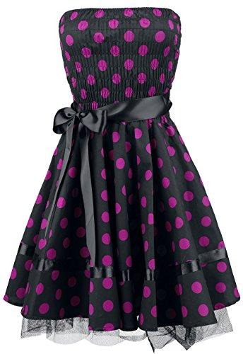 rosa Purple Rosa nero London H Nero Big amp;R Abito Dots nqx16406B