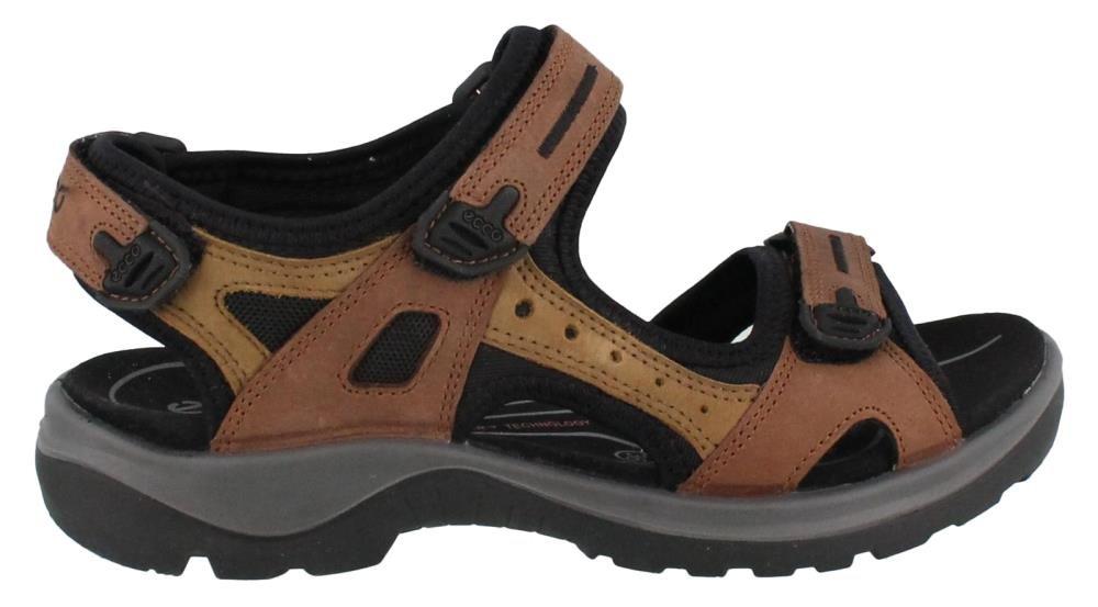 ECCO Women's Yucatan Sandal, Bison/Mineral/Black, 38 EU / 7-7.5 M US