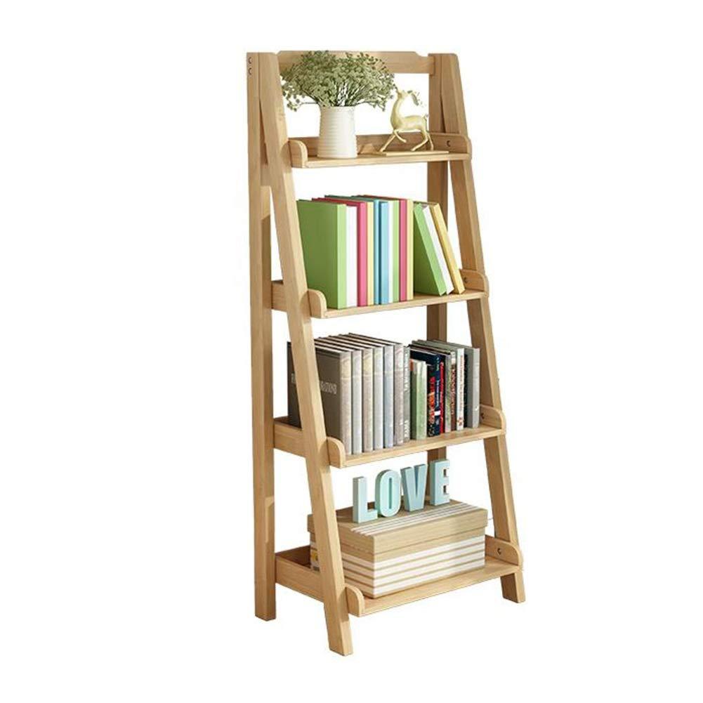 はしごの棚、純木の収納ラックシンプルでモダンな本棚 TIDLT (色 : 木の色, サイズ さいず : 60*36*140cm) B07Q6B1WSC 木の色 60*36*140cm