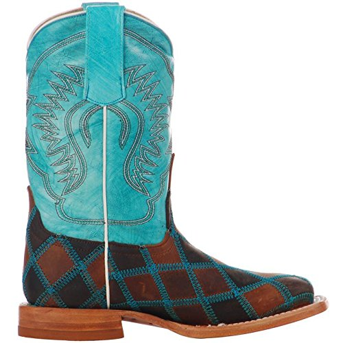 Anderson Bean Boys Kid s Insane in The Membrane Patchwork Cowboy Boots 13 Brown/Turquoise by Anderson Bean (Image #1)