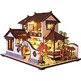 CUTEBEE Dollhouse Miniature with Furniture, Wooden DIY Dollhouse Kit 1:24 Scale Creative Room Idea