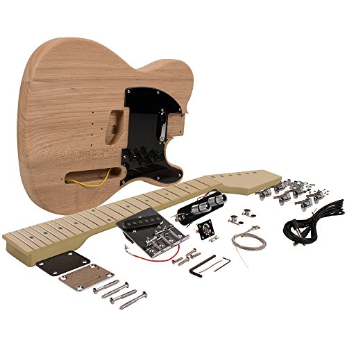 Seismic Audio - SADIYG-05 - Premium DIY Traditional Classic Style Electric Guitar Kit - Unfinished Luthier Project Guitar Kit (Maple Body Kit)